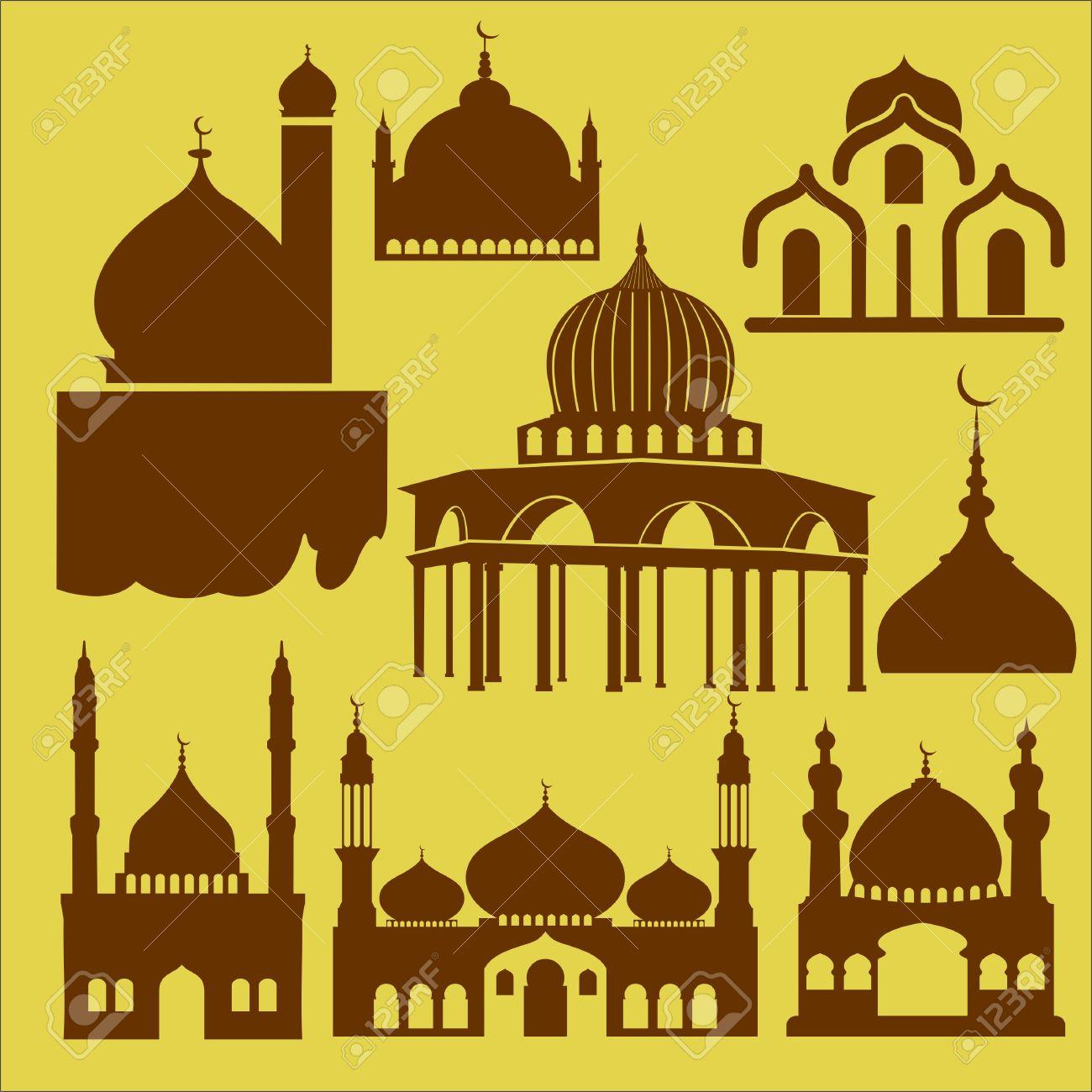 Mezquita Vector Clipart Digital 3 Ilustraciones Vectoriales, Clip.