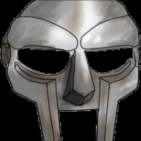 HD Mf Doom Mask Drawing Transparent PNG Image Download.