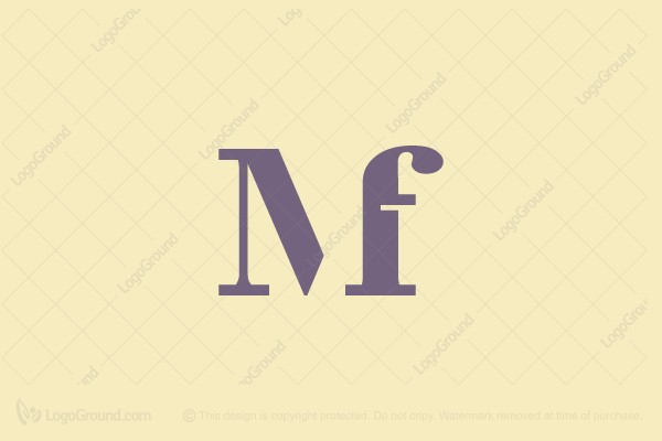 Exclusive Logo 122488, Mf Monogram Logo.