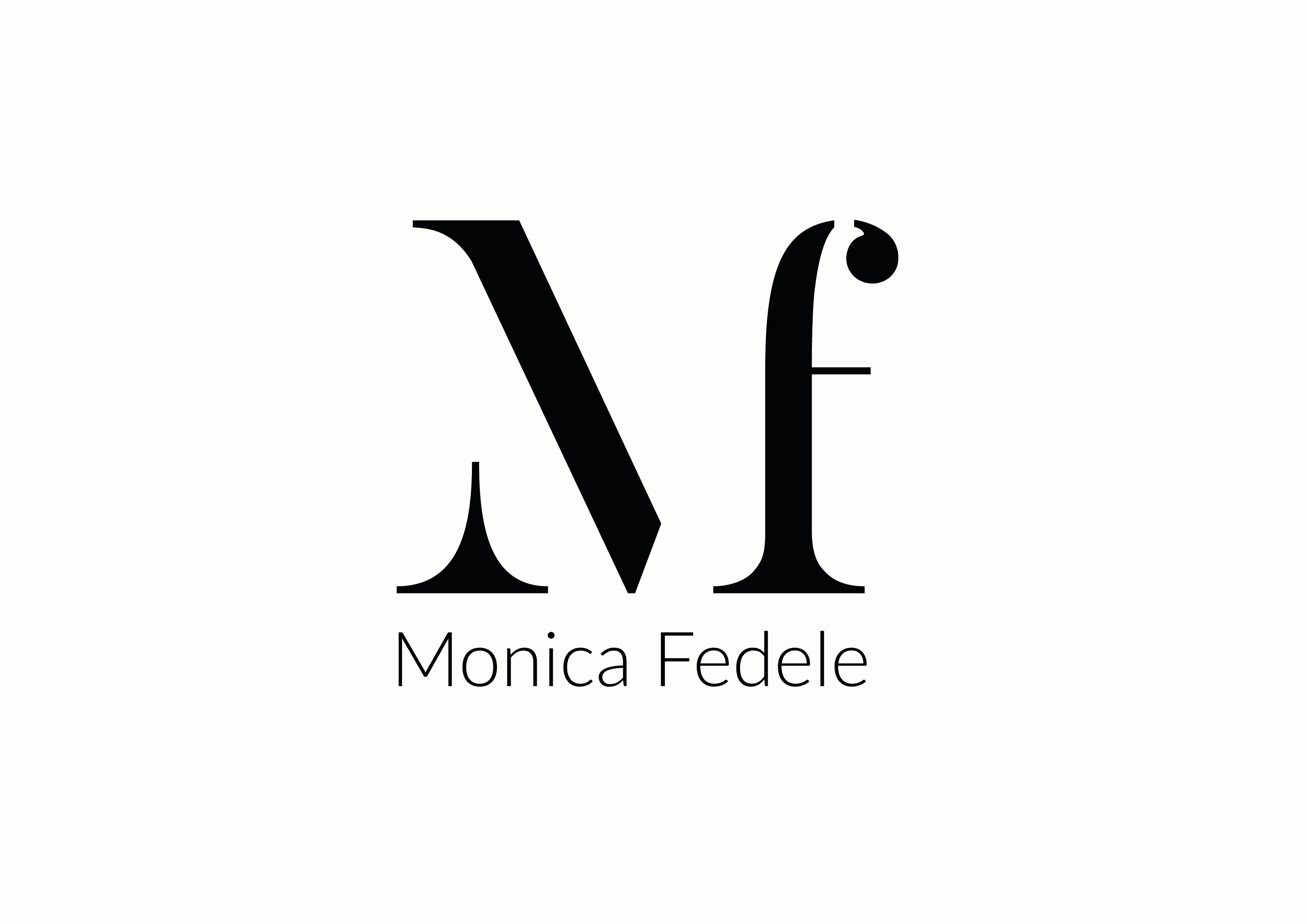 Mf logo design, mf logo monica fedele.