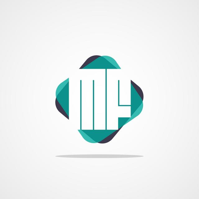 Initial Letter Mf Logo Design Template for Free Download on.