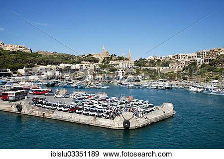 "Stock Photograph of ""Fishing port, Mgarr, Ghajnsielem, Gozo, Malta."