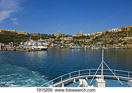 Stock Image of Mgarr Harbour 1915205.