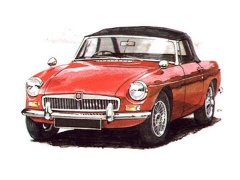 I ♥ MGB Mk1 1962 Mk2 1967 MGB GT Mk3 1973 GT V8 1976 Classic Car.