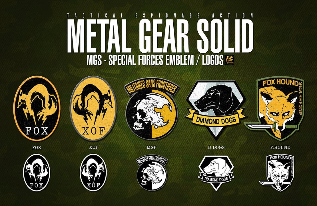 metal gear solid special forces original logo collection i.