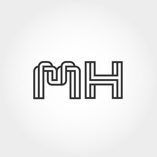 Initial Letter Mh Logo Template Template for Free Download.