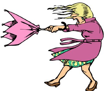 Windy Day Clipart.