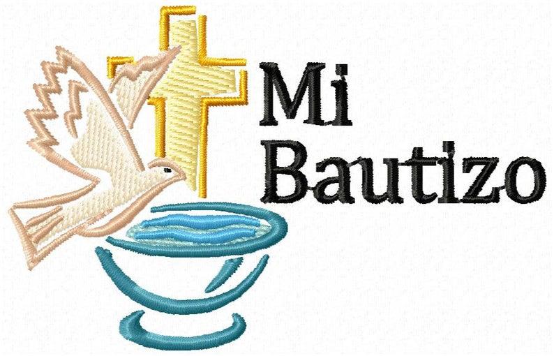 Mi Bautizo Machine Embroidery Design.