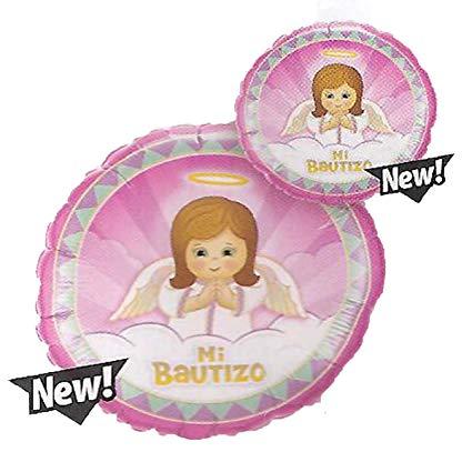 Baptism Mylar Balloon Mi Bautizo Angel.