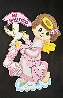 Amazon.com: Mi Bautizo Angelita Rosita Foame para Nina: Toys.