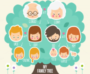 Mi Familia Tree Clip Art.