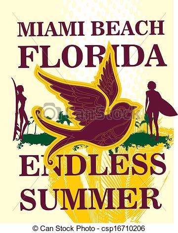 Miami beach Stock Illustrations. 908 Miami beach clip art images.