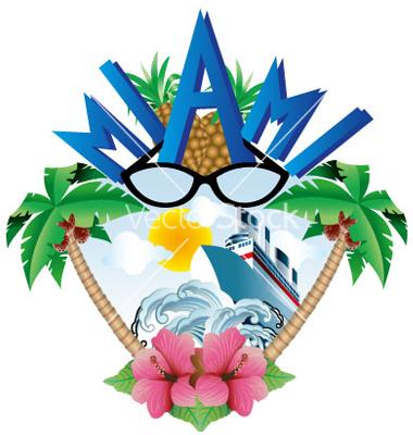Miami beach clipart.