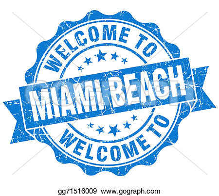 Miami Beach Stock Illustrations.