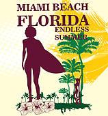 Miami Beach Clip Art.
