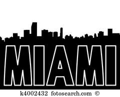 Miami skyline Illustrations and Clipart. 137 miami skyline royalty.