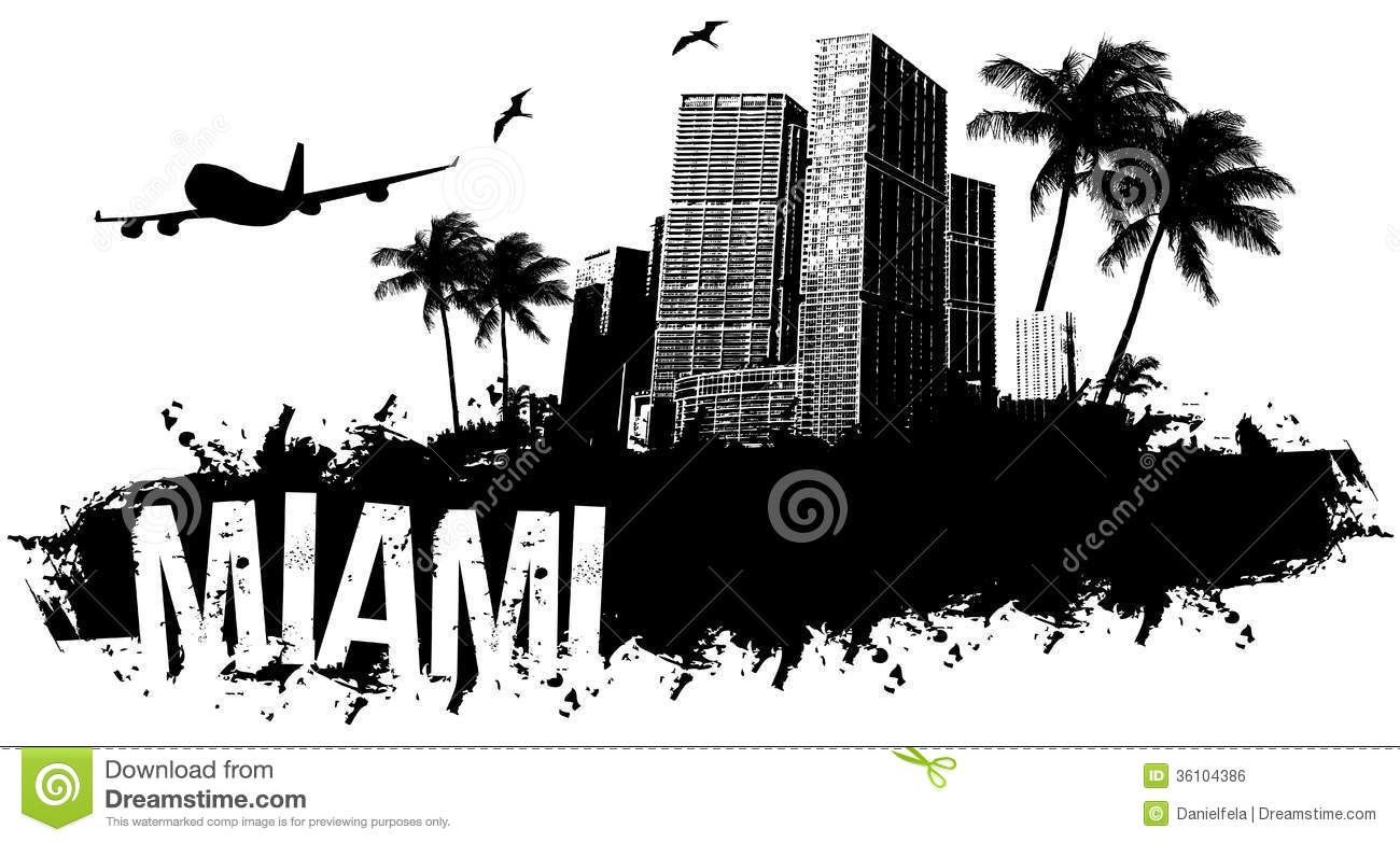 Miami Stock Illustrations.