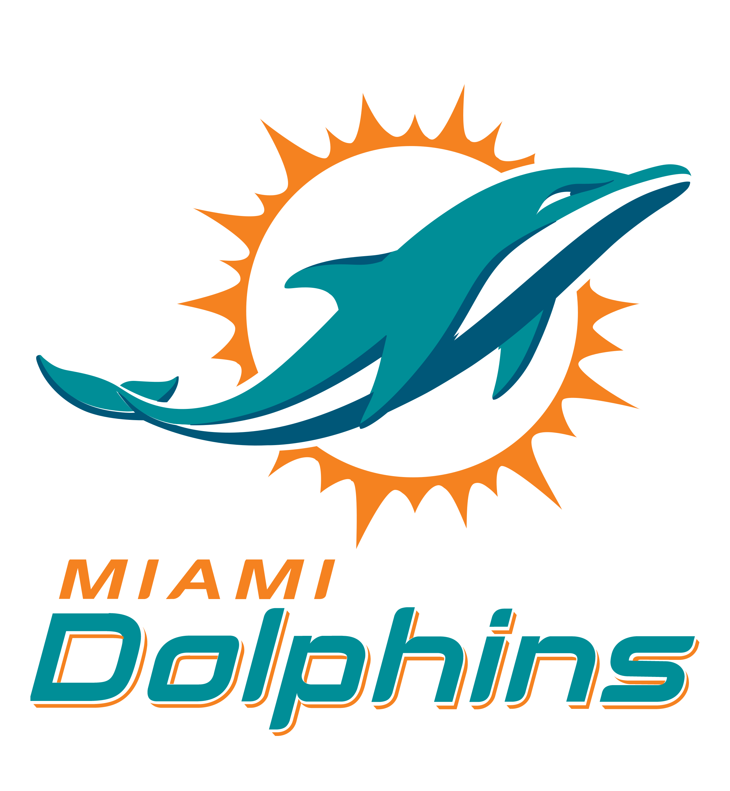 Miami Dolphins Logo PNG Transparent & SVG Vector.