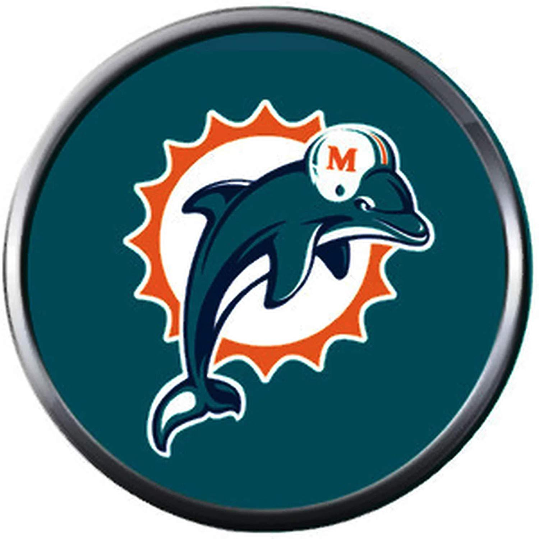 Amazon.com: Fashion Snap Jewelry NFL Logo Miami Dolphins.