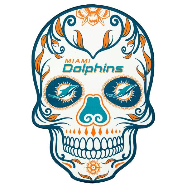 NFL Miami Dolphins Outdoor Skull Graphic.