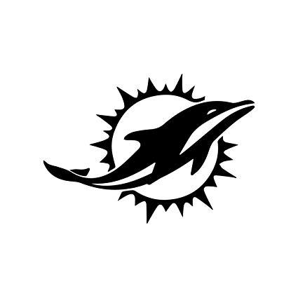Amazon.com: AdecalsNew NFL Miami Dolphins (BLACK) (set of 2.
