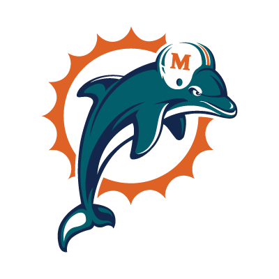 Miami Dolphins logo vector (.AI, 329.64 Kb) download.
