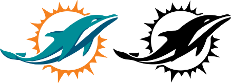 Miami Dolphins vector logo.