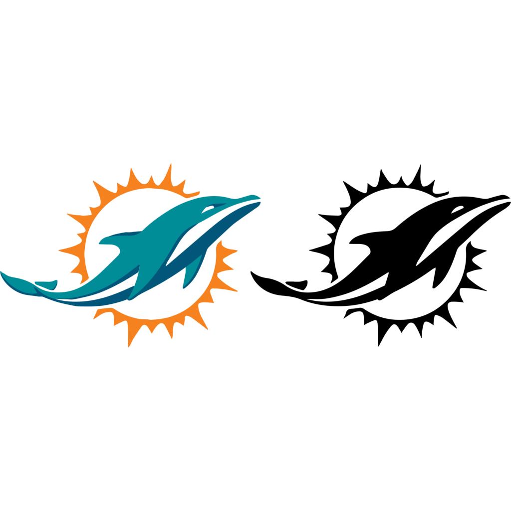 Miami Dolphins logo, Vector Logo of Miami Dolphins brand.