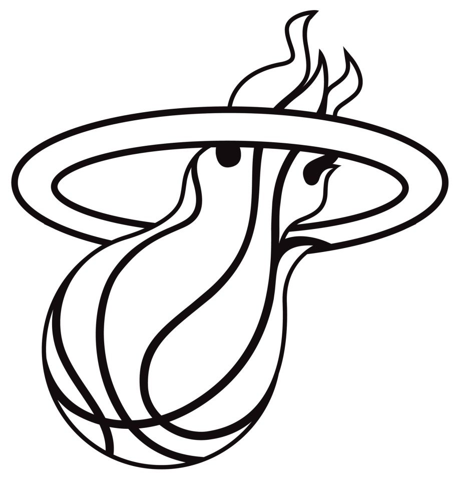 Miami Heat Logo Drawing.