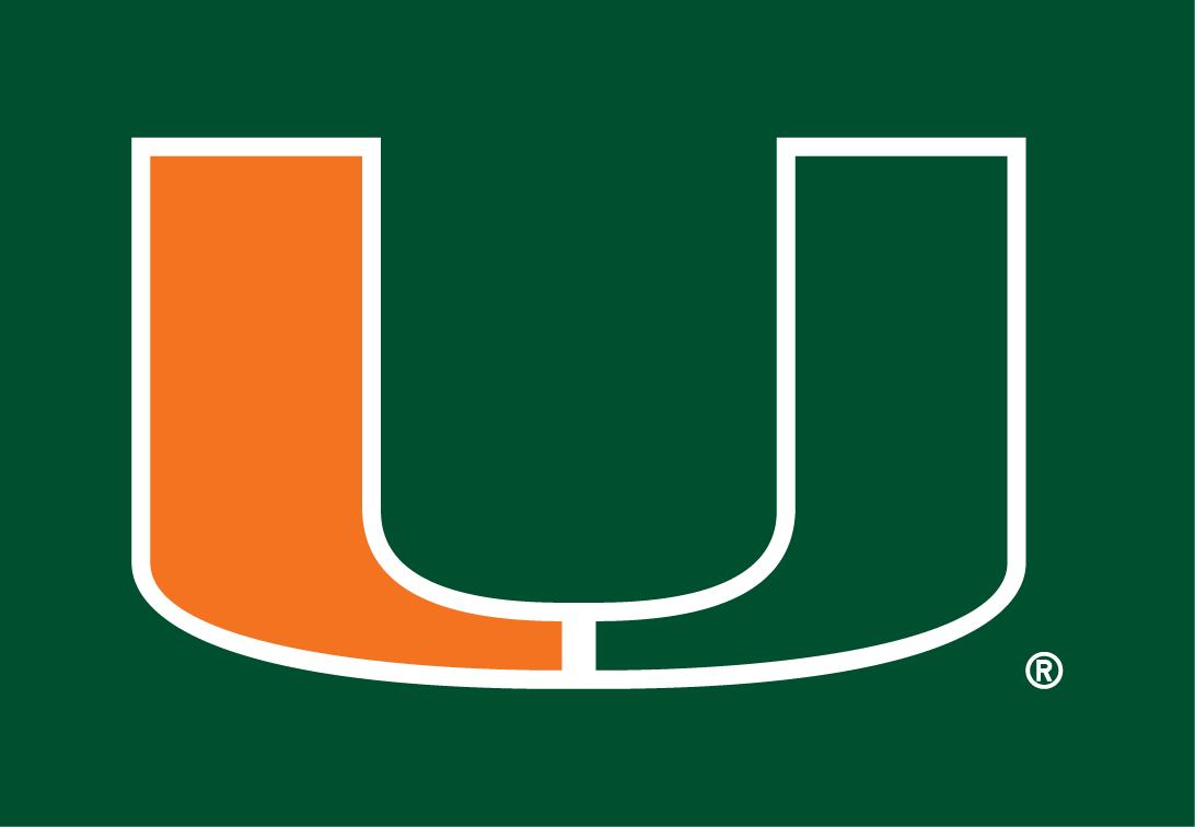 Miami Hurricanes Primary Dark Logo.