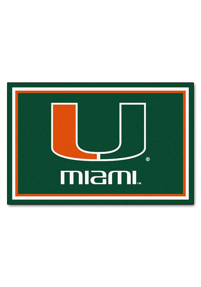 Miami Hurricanes Team Logo Interior Rug.