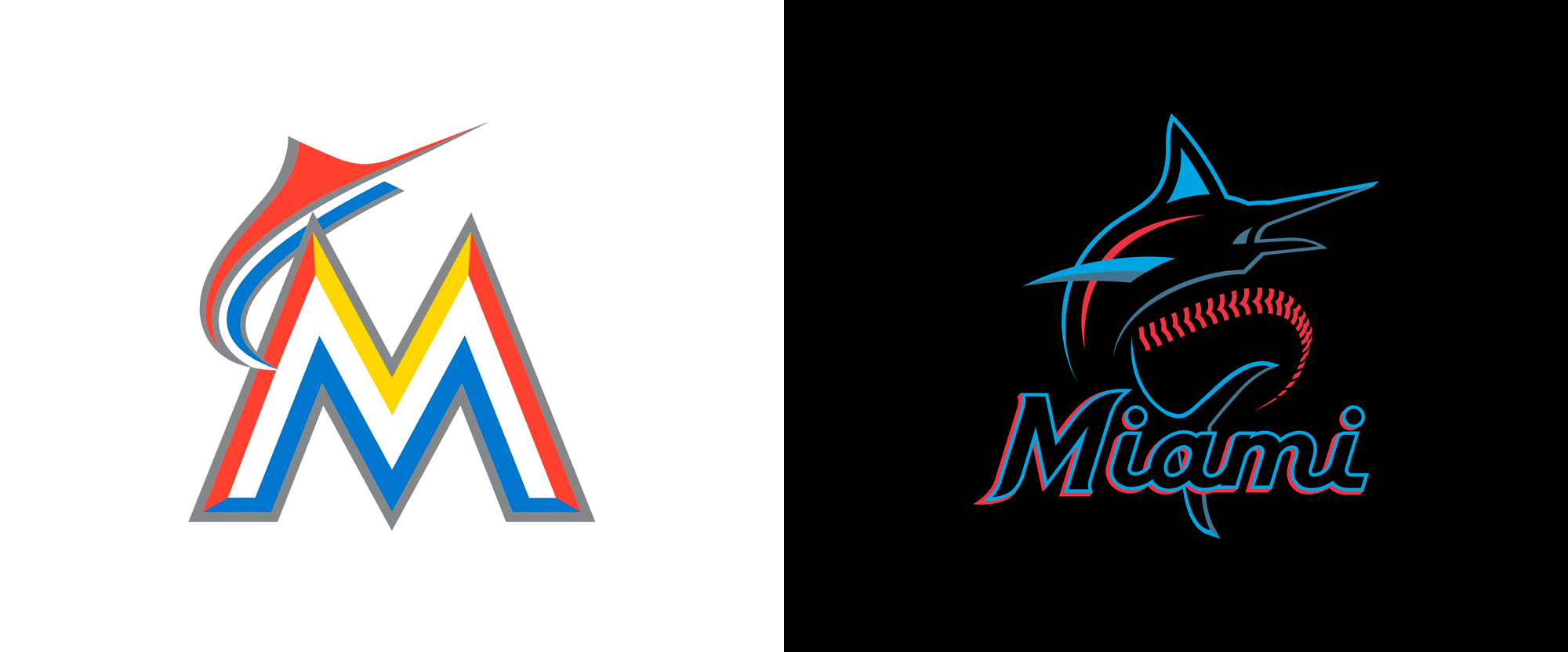 Brand New: New Logo for Miami Marlins.