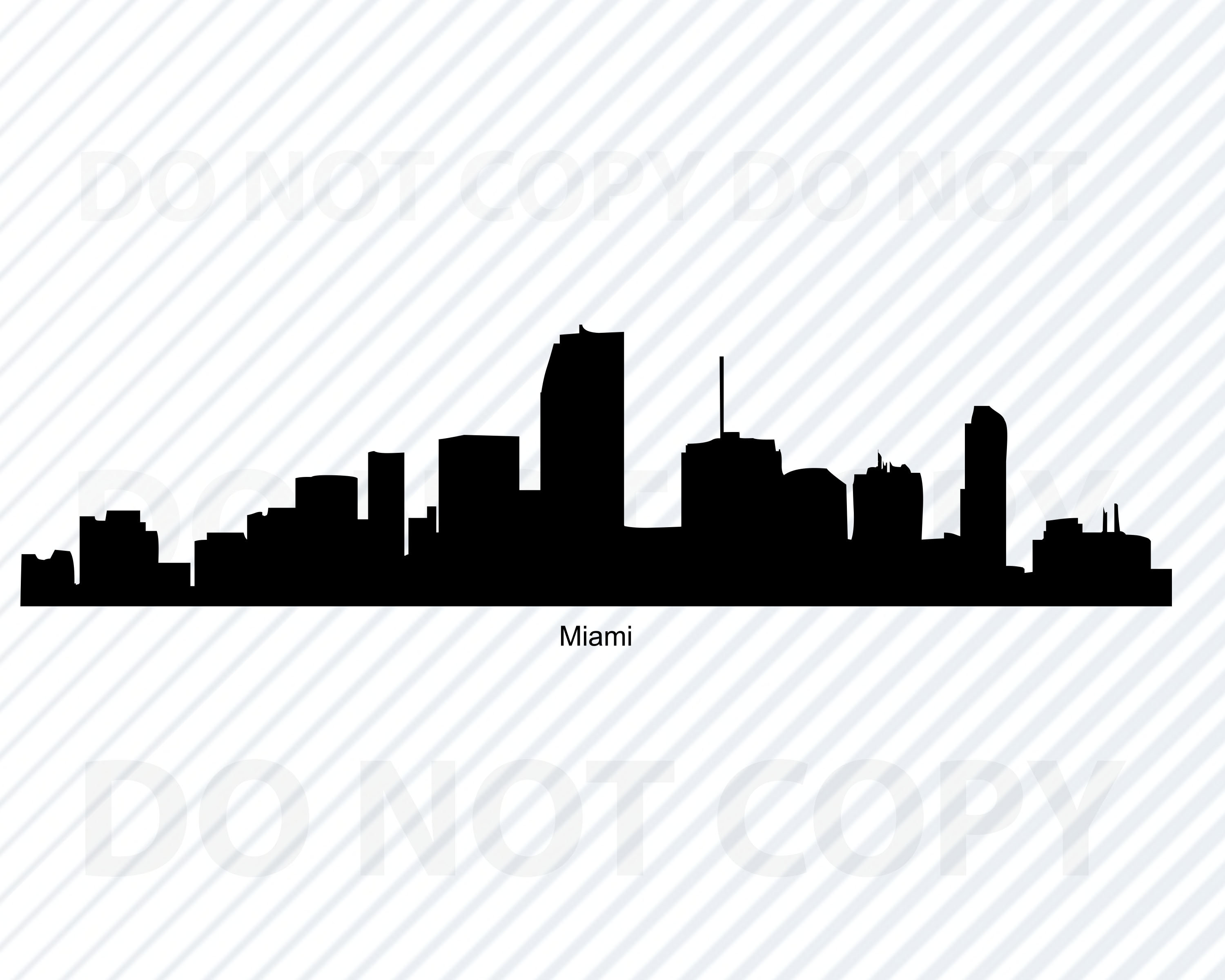 Miami Skyline SVG Files For Cricut.
