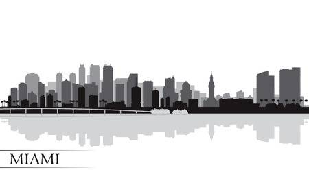 566 Miami Skyline Stock Vector Illustration And Royalty Free.