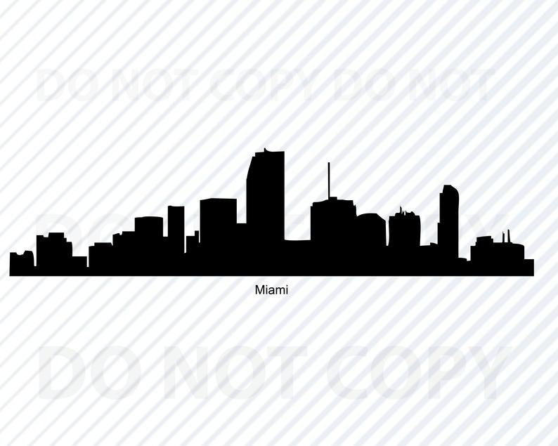 Miami Skyline SVG Files For Cricut.
