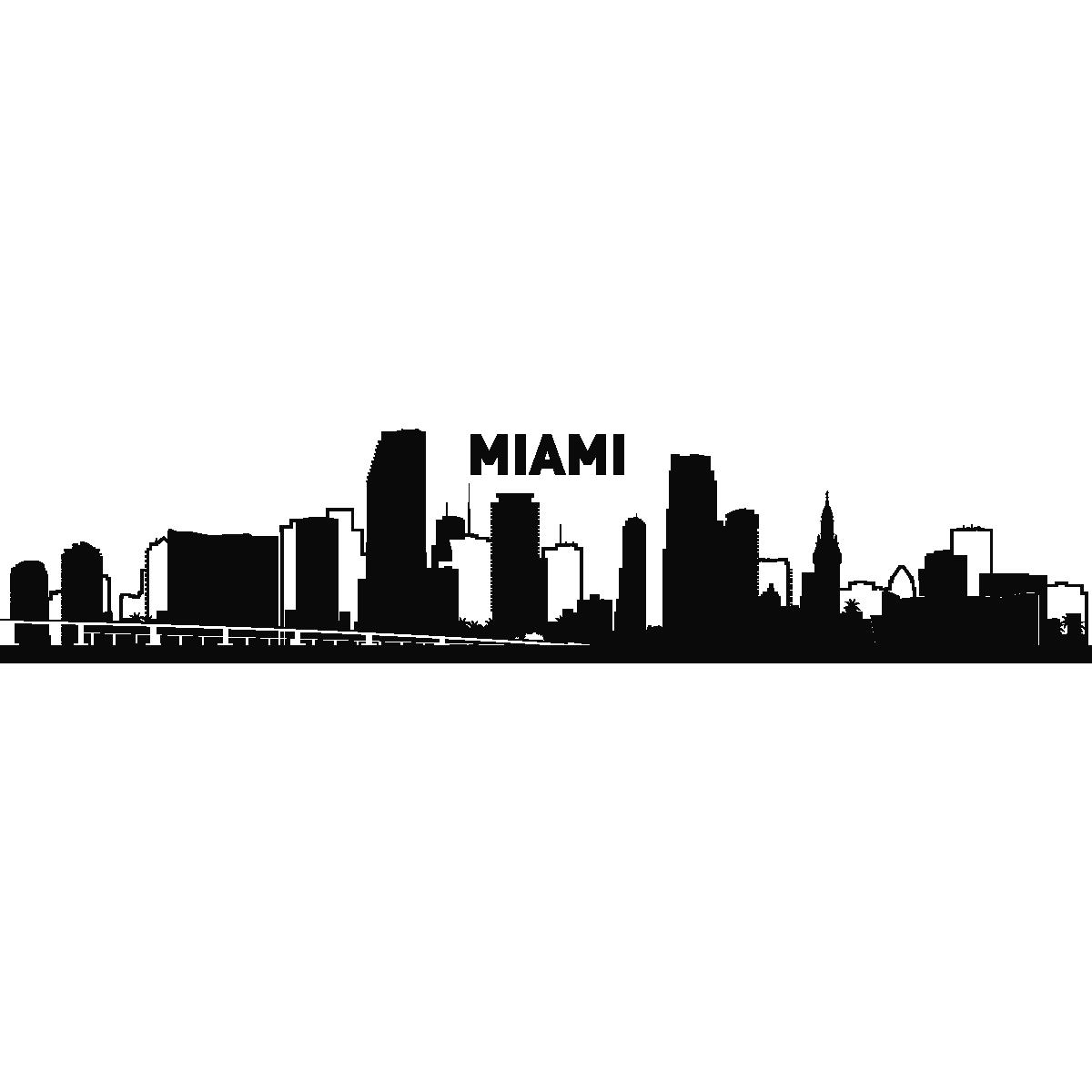 city of miami skyline tattoos.