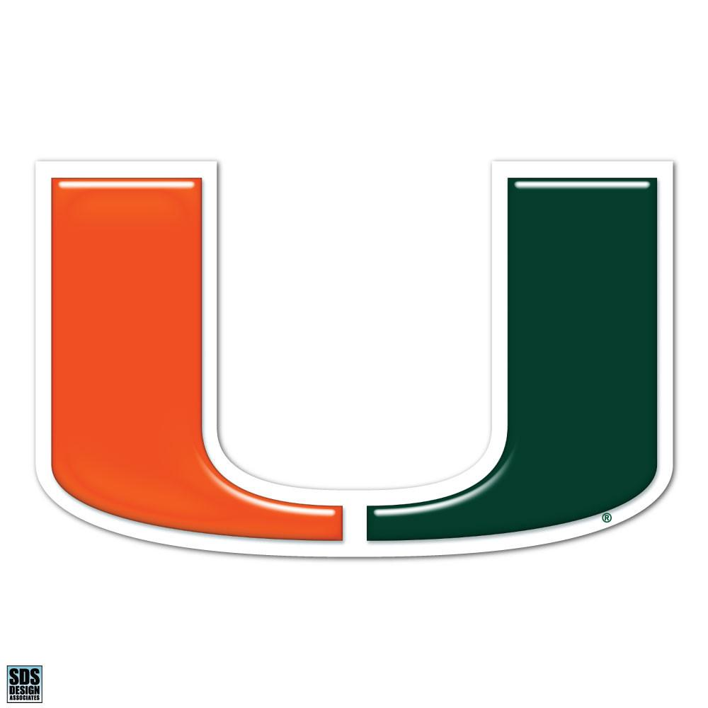 Miami Hurricanes U Logo Decal.