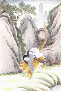 Tiger Carries Off Miao Shan Clip Art Download.