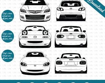 Mazda miata print.
