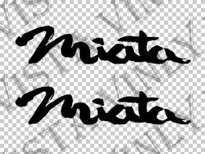 2x Mazda MIATA Logo Car Auto Body Window Vinyl Decal Sticker 5\