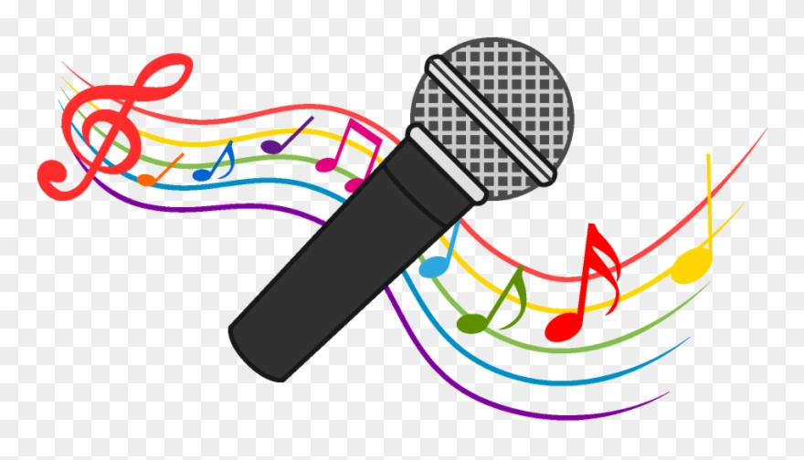 Microphone And Music Note Waving Clipart Download Picture.