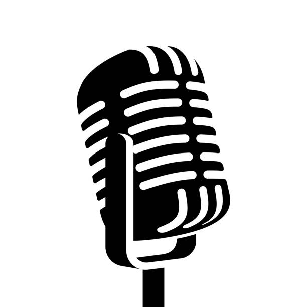Old Fashioned Microphone Clipart.