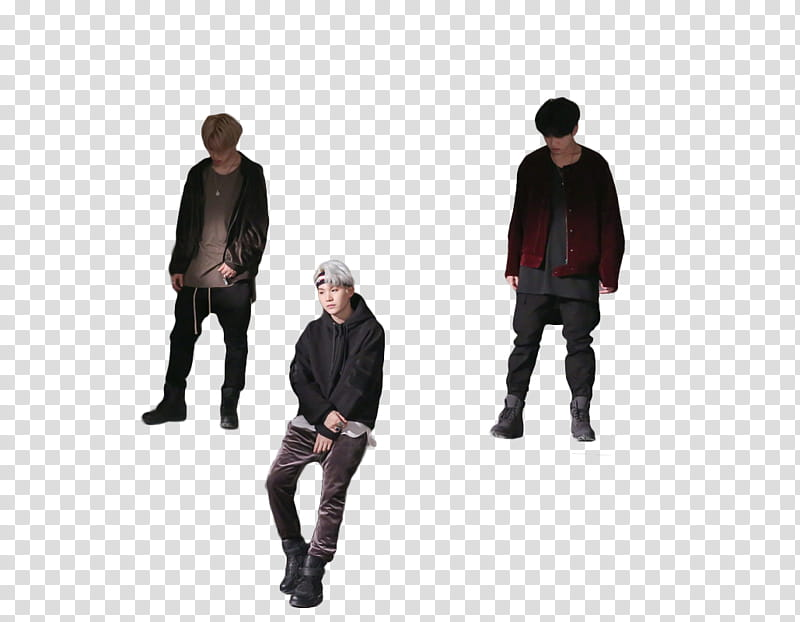 BTS Shooting for MIC Drop, three men wearing jackets and.