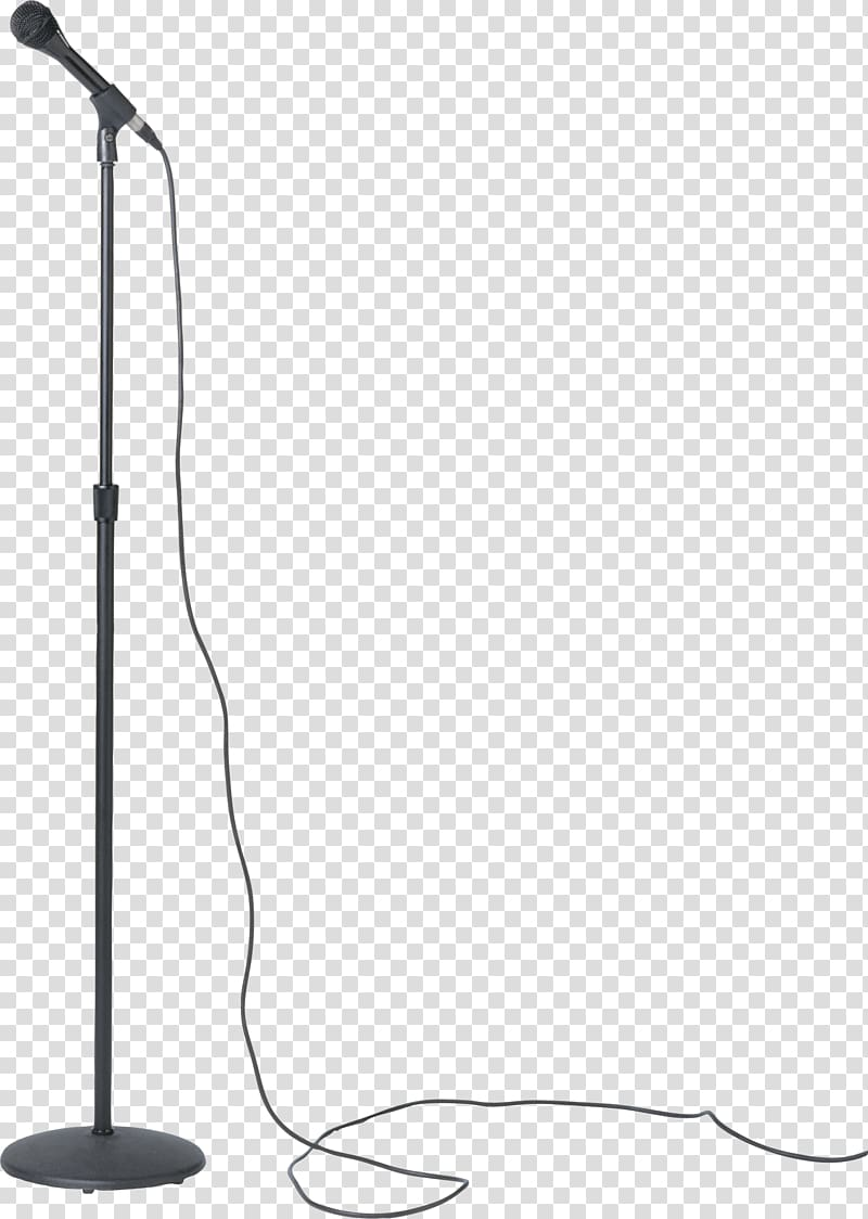 Black microphone with stand, Microphone stand Shure SM58.