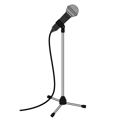Black Microphone Clipart Free Picture|Illustoon.