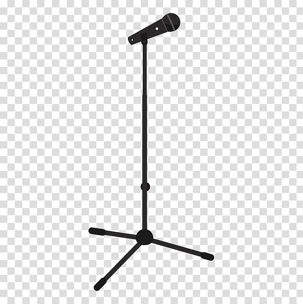 Microphone Music Silhouette, microphone transparent.