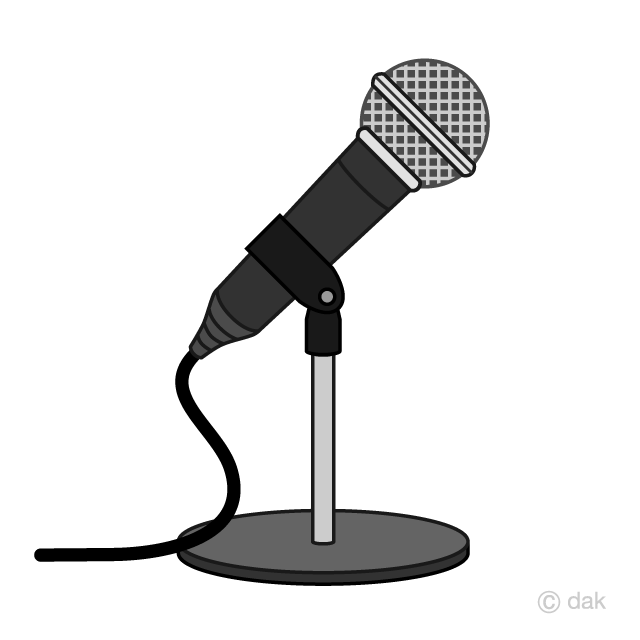 Microphone clipart stand clipart, Microphone stand.