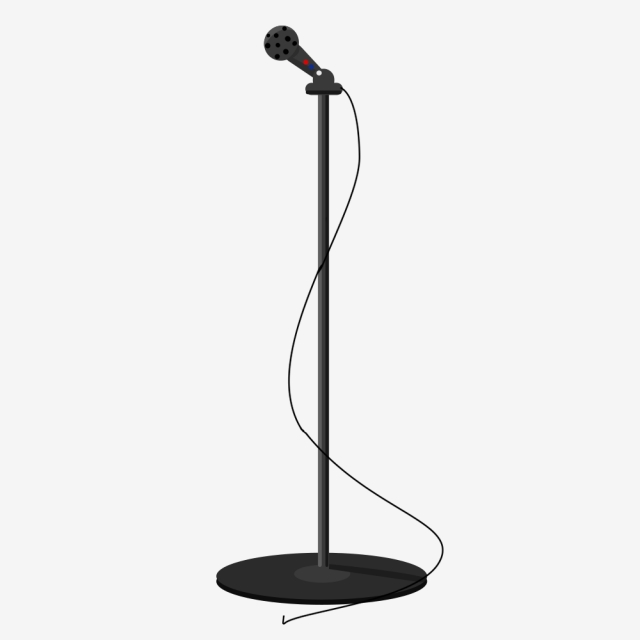 Microphone Stand Png, Vector, PSD, and Clipart With.