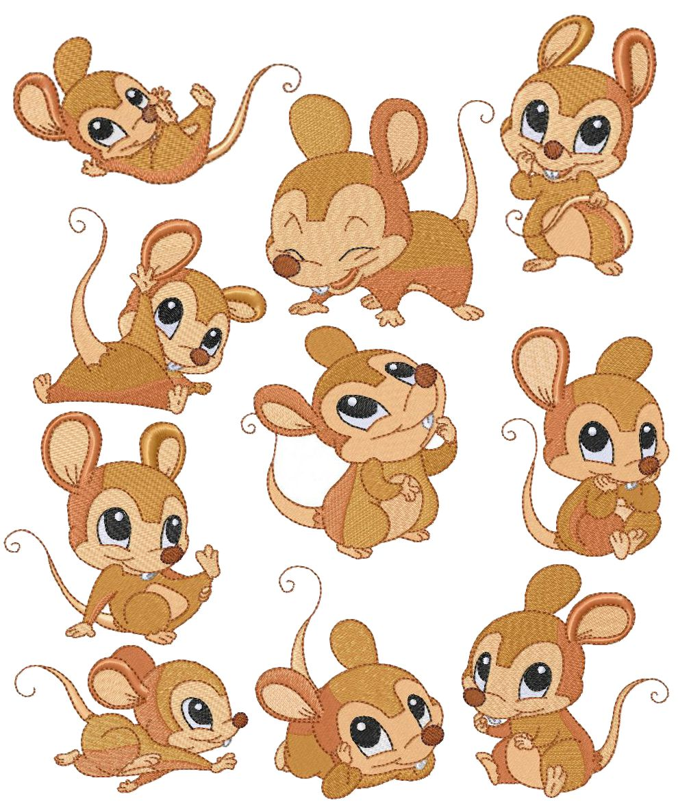 Cute Mice Clipart.