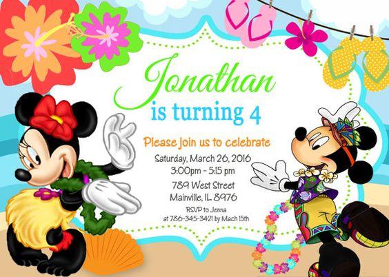 Mickey Mouse Minnie Island Luau Birthday Party